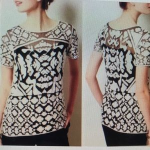 ANTHROPOLOGIE EVERLEIGH ROCCO LACE TUNIC TOP S